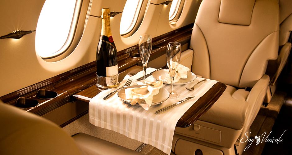 El vino en aerolíneas